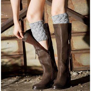 Scottish Cable Knit Short Boot Socks/Leg Warmers